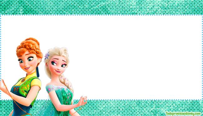Frozen Fever imagenes marcos stickers