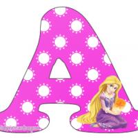 Letras Abecedario de Rapunzel para descargar gratis