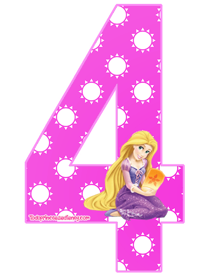 Moldes Numeros De Princesas Princesas Disney