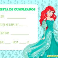 Invitaciones de Cumpleanos de La Sirenita, Princesa Ariel
