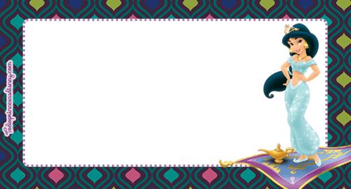 Etiquetas Aladdin - Princesa Jasmin stickers pegatinas