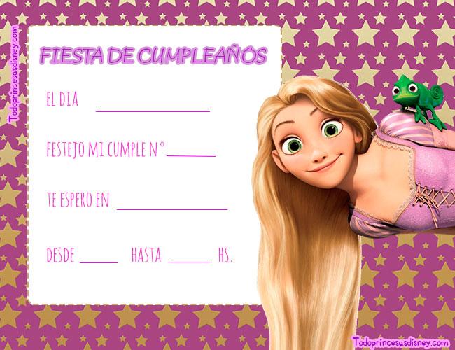 Convites Rapunzel Tangled Enredados