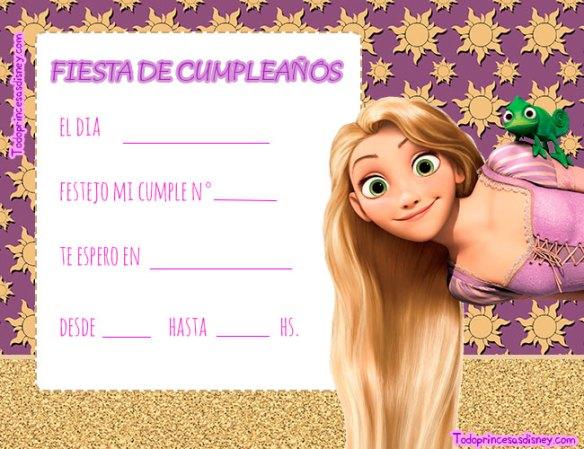 Invitaciones de Rapunzel descarga gratis