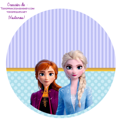 Etiquetas Frozen 2 stickers