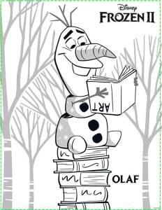 Colorear a OLAF Frozen 2
