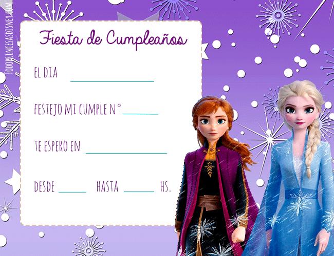 Invitaciones de Frozen 2