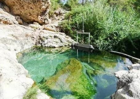 Piscinas termales de los baños de Somogil, en Moratalla.