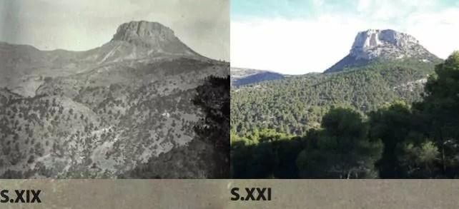 Sierra Espuña antes y después de la repoblación llevada a cabo por Ricardo Codorníu