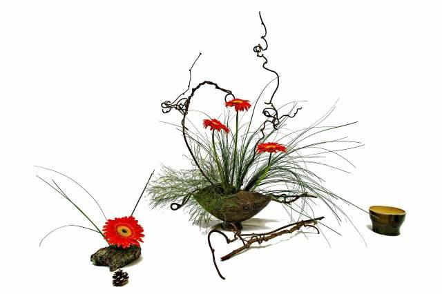ikebana arreglo floral