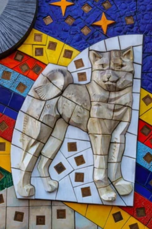 mosaico colores shibuya hachiko