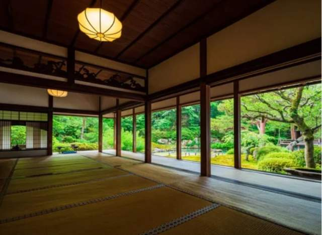 esteras tatami templo shoren-in kioto