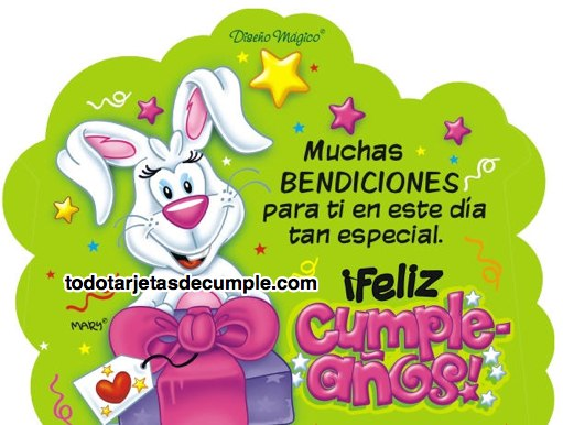 tarjetas de cumpleaños con muchas bendiciones