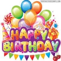 Tarjetas de cumpleaños con globos de colores y happy birthday