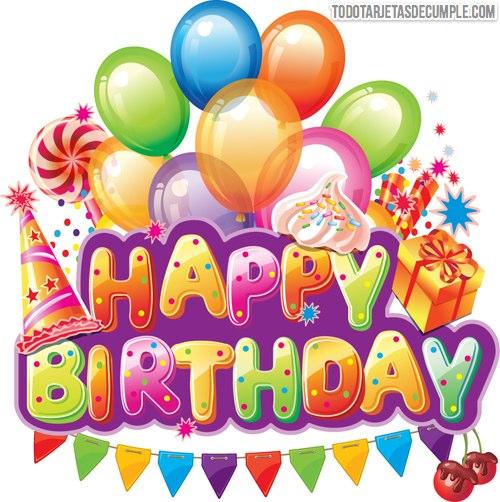 tarjetas de cumpleaños happy birthday