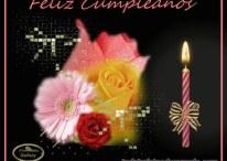 Tartejas de cumpleaños con flores