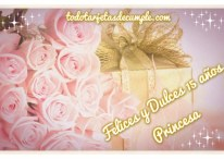 Tarjetas de Felices 15 años Princesa