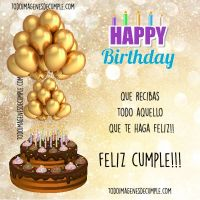 Imágenes y tarjetas de cumpleaños con frases lindas y positivas