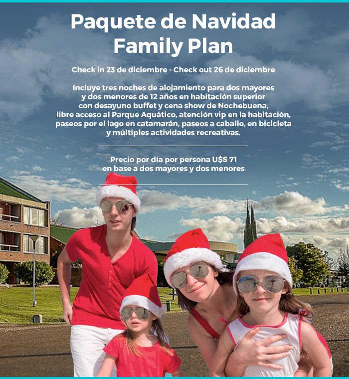 Paquete de Navidad Family Plan Hotel Horacio Quiroga