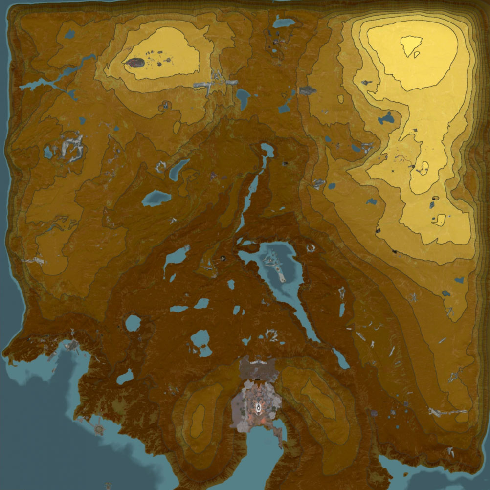 Mapa Llanuras de Eidolon Plains of Eidolon Map