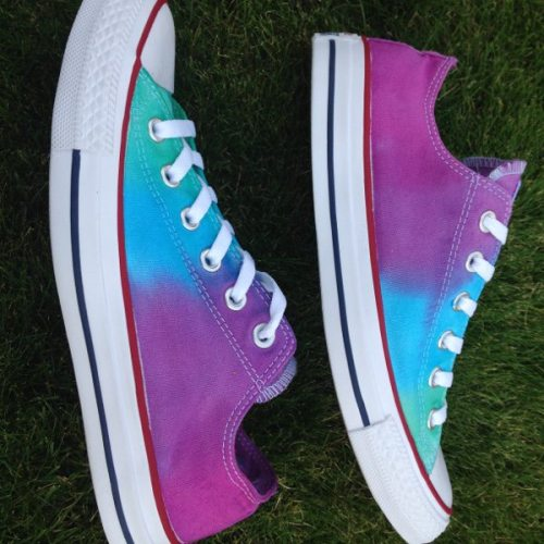 Mermaid custom dyed Converse