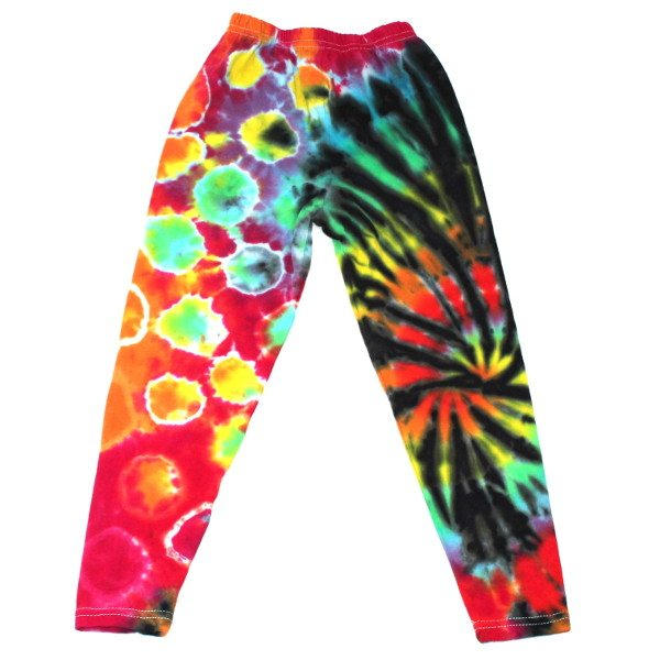 custom dyed leggings black rainbow miss match