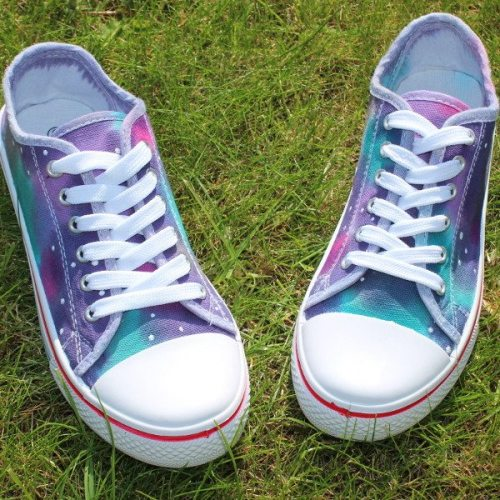 blue nebula canvas shoes