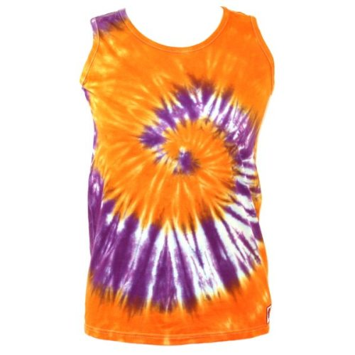 Orange & purple swirl