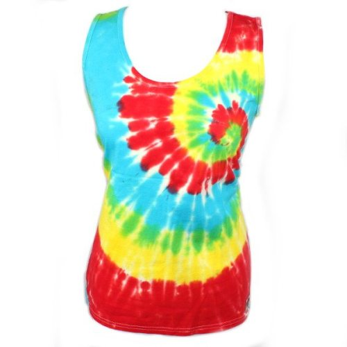 Ladies Vest - Primary Swirl