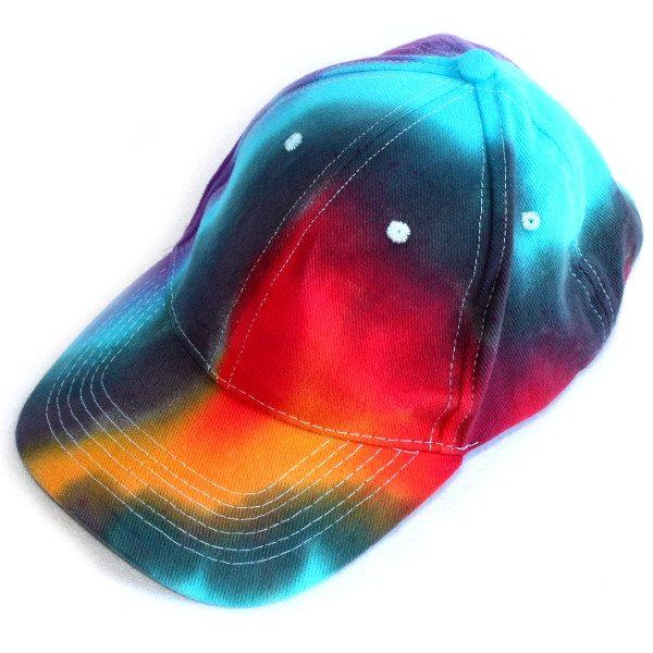 custom dyed caps dark rainbow cap