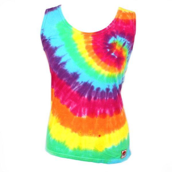 ladies vest - Rainbow swirl