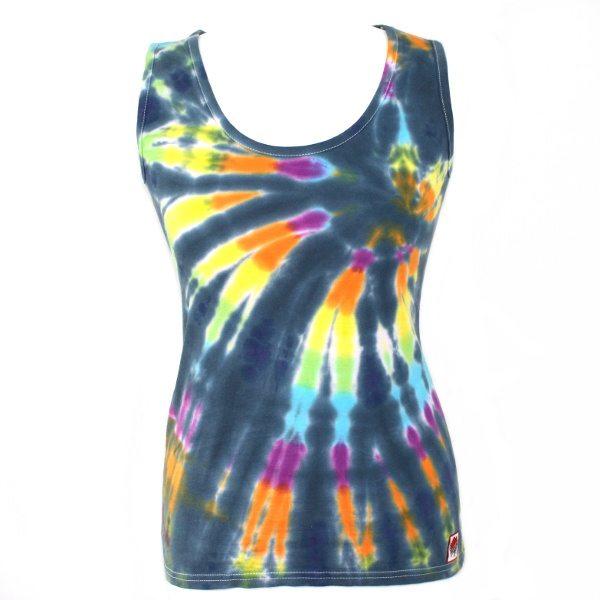 Ladies Vest - black rainbow
