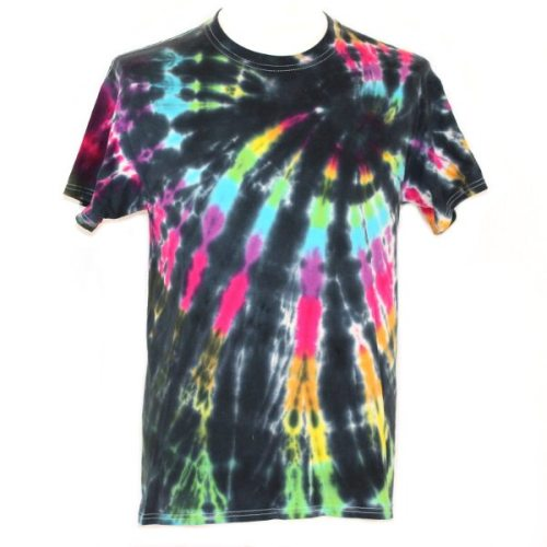 loose fit tee - black rainbow