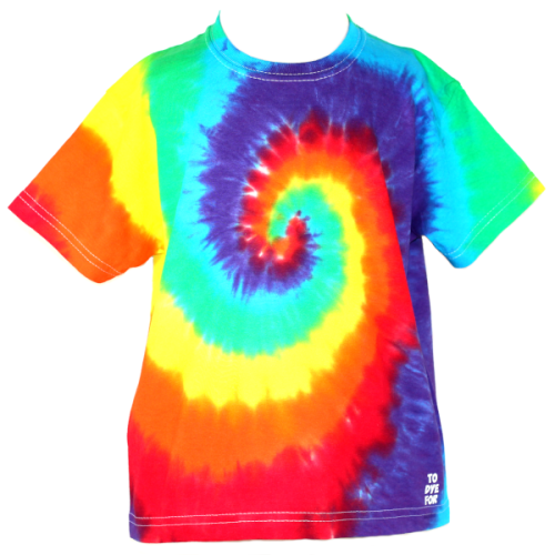 kids rainbow swirl t-shirt