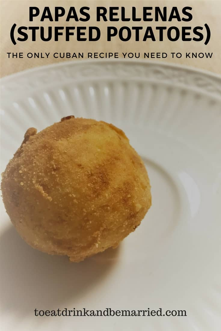 "Cuban Papas Rellenas are a ""must know"" for everyone who likes to cook! Easy, impressive, delicious, and with a Latin flair! Literally potato balls stuffed with ground beef and deep friend to golden perfection!"