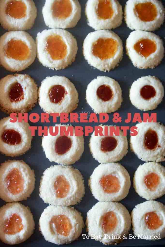 Shortbread and Jam Thumbprint Cookies...perfect for tea and coffee!