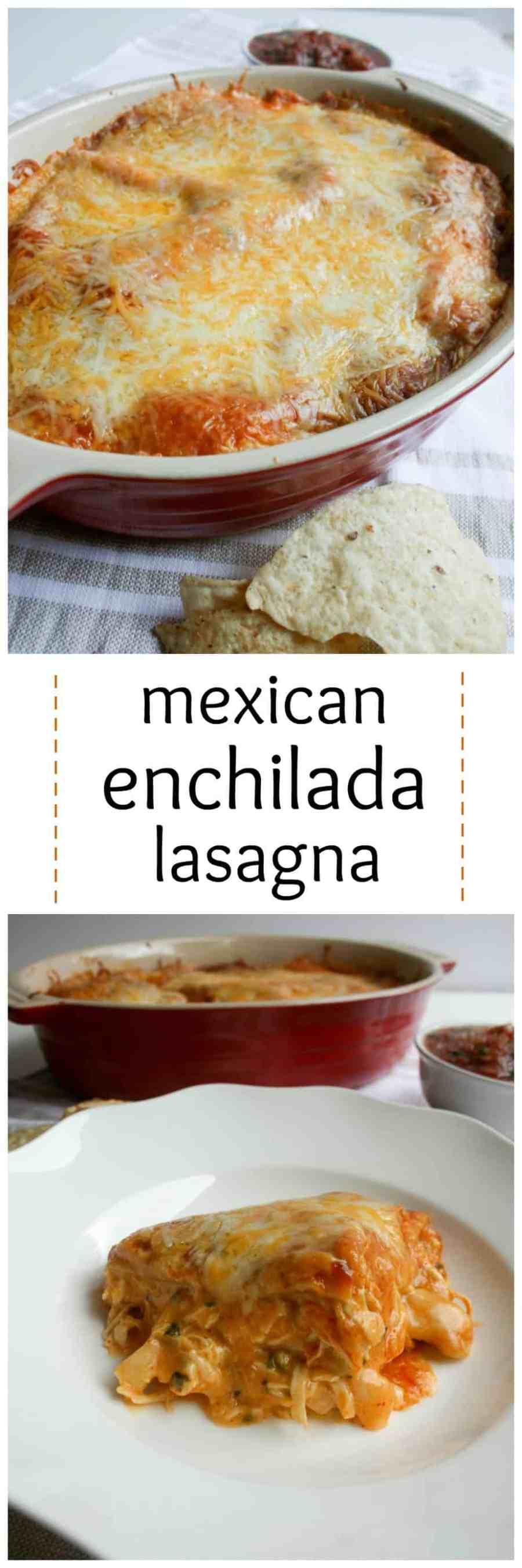 Enchilada Lasagnas are the perfect cross between Mexican and Italian dinners. There is nothing better, more family friendly or delicious as this everyday, busy weeknight casserole!
