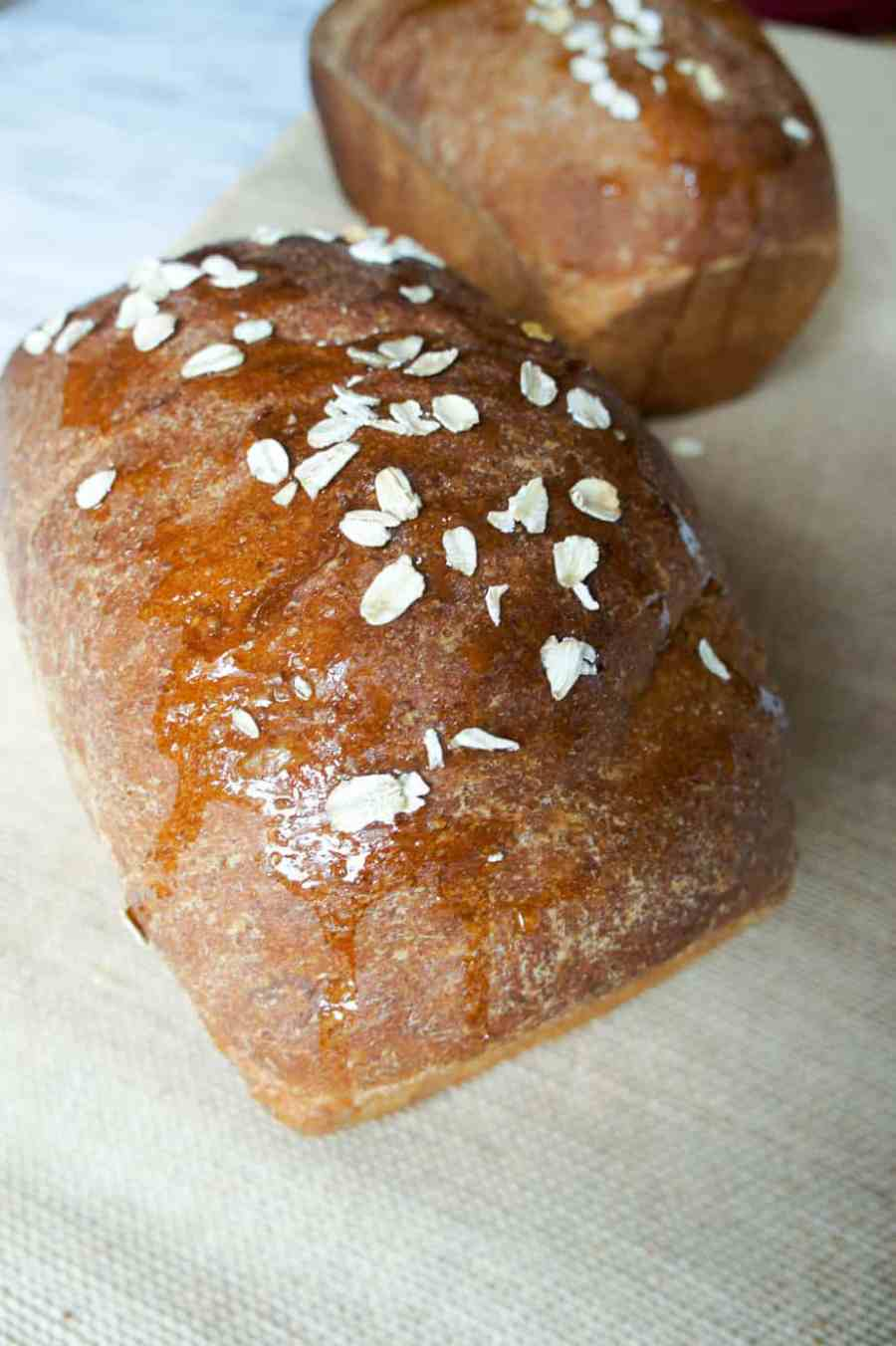 Honey Oat Wheat bread is easy to make and delicious for everything from breakfast to sandwiches!