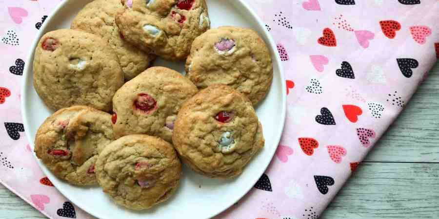 Valentine's M&M cookies