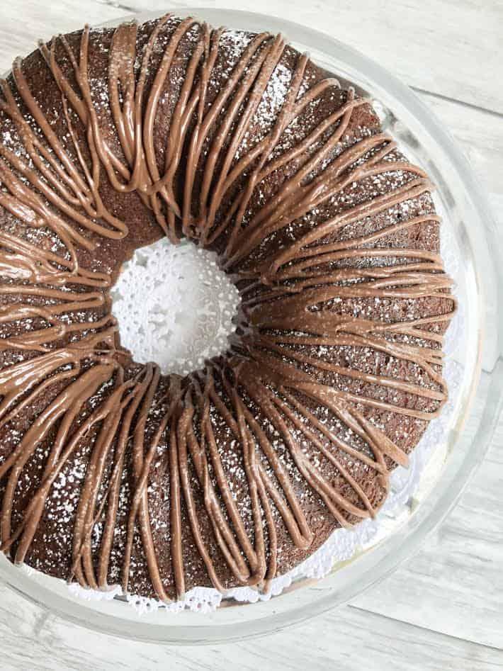 1 bowl Banana Nutella Bundt Cake