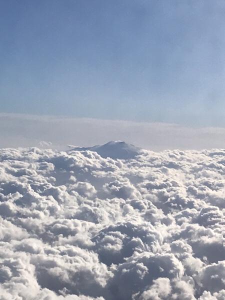 飛行機からのエトナ山2