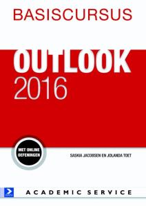 Boek Basiscursus Office Outlook 2016