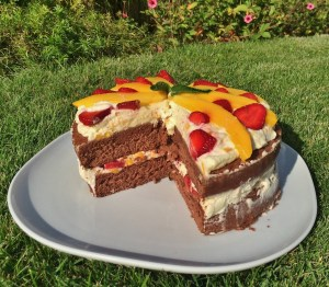 Naked Layer Cake – Mango Erdbeer Torte