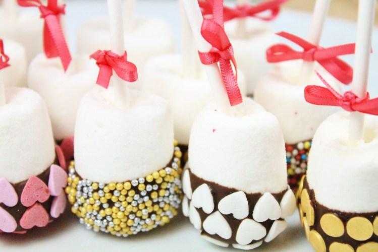 Marshmallows mit Schokoladenüberzug