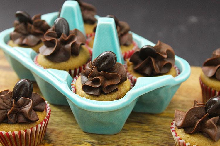 Mini Cupcakes Kaffee Kirsche Schokolade