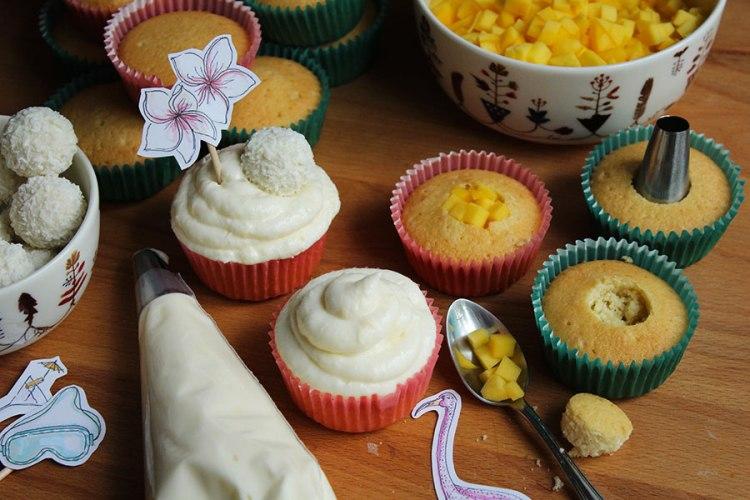 Cupcakes Mango Kokos