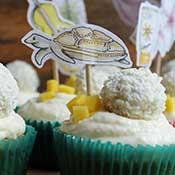 Mango-Kokos-Cupcakes