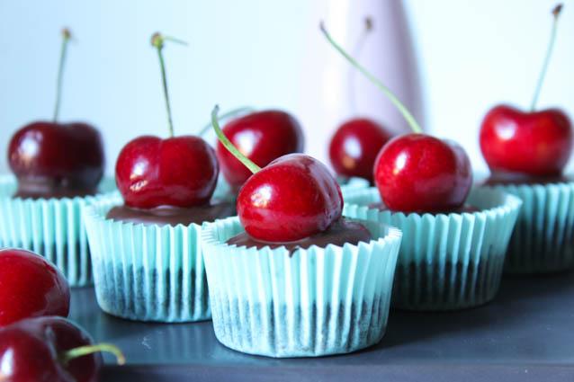 Vegane Schoko Kirsch Muffins