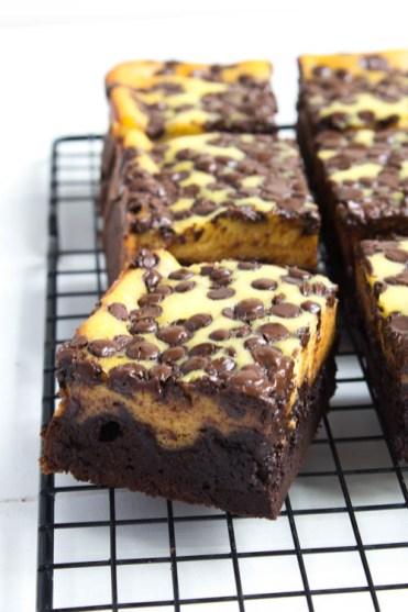 Rezept Brownies mit Käsekuchen
