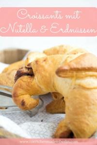 croissants mit nutella erdnussbutter