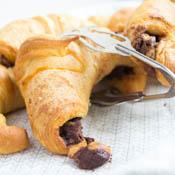 Croissants mit Nutella & Erdnussbutter